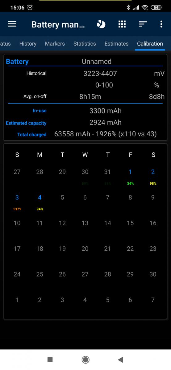 Battery Calibration   3C portal